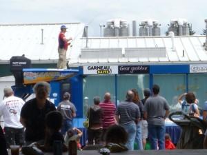 Fishing demonstration at Hackettstown hatchery Centennial open house