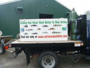 Hackettstown Hatchery fish truck