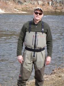 Testing Redington waders on the Farmington, March 2013