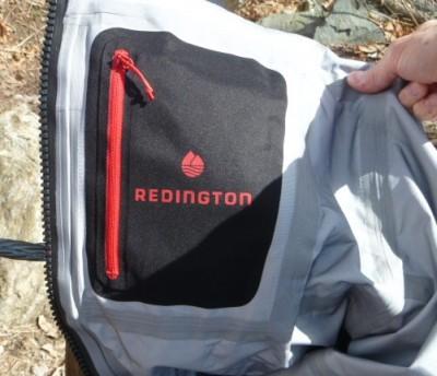 Inside pocket on Redington waders comes in handy