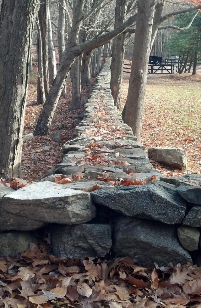 Stone fence, autumn, fall colors, fall scenes, november