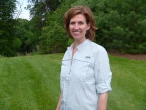 Susan wearing an Eddie Bauer guide shirt