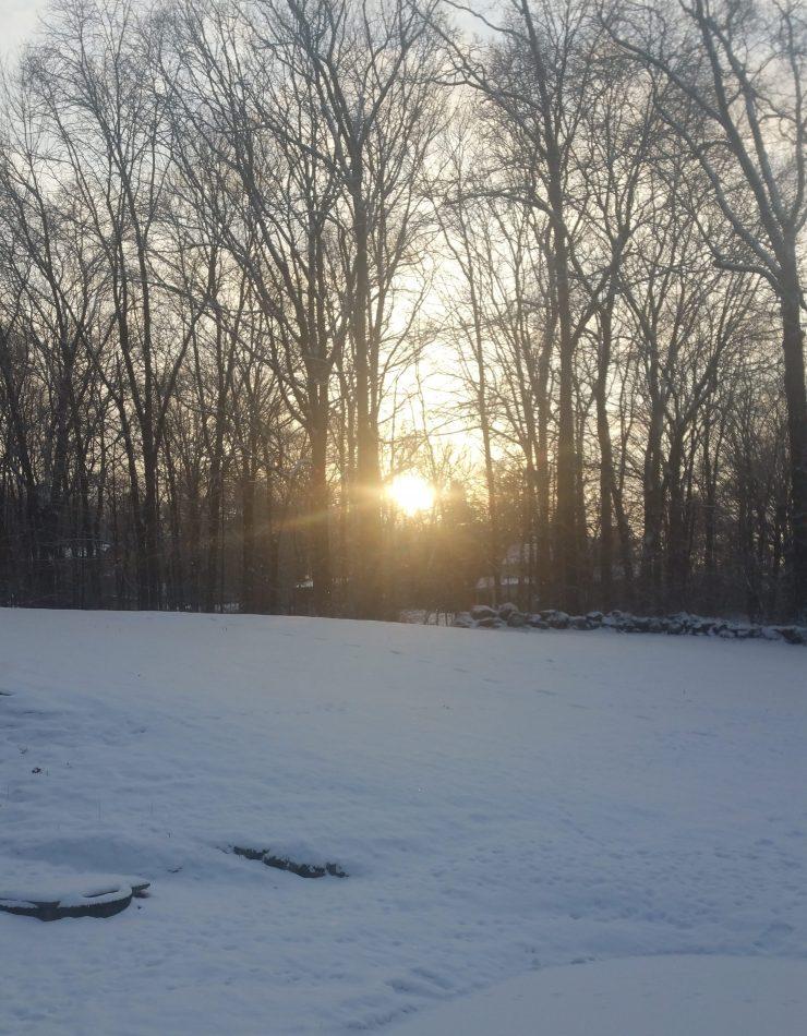 December 2017 sunset