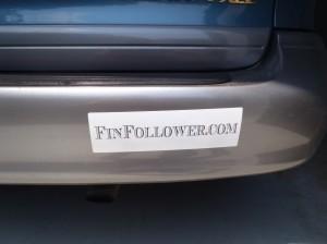 Finfollower Sticker