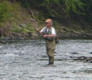Walt Franklin of Rivertop Rambles on the Willowemoc, August 2014 #finfollower