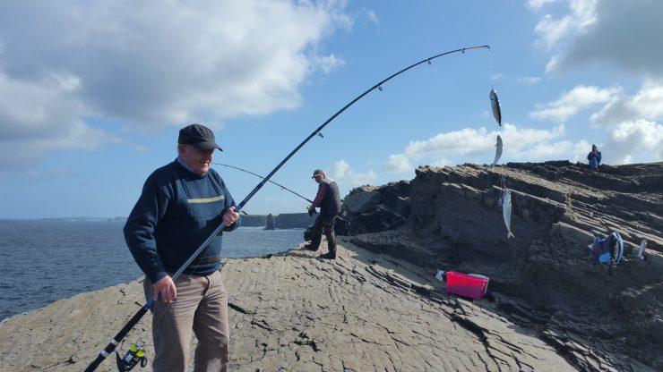 Kilkee, Kilkee Cliffs, Ireland, County Clare, fishing, mackerel